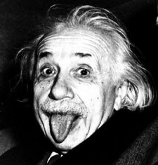 Einstein sticking out tongue