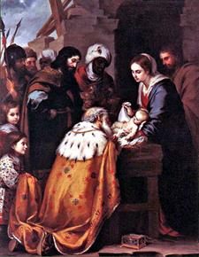 The Adoration of the Magi by Bartolomé Esteban Murillo (Wikipedia)