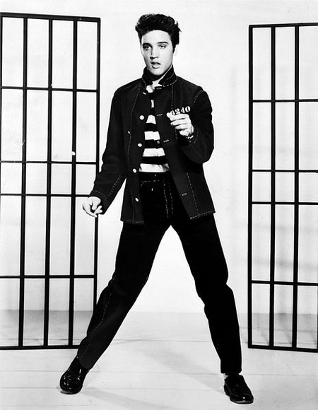 Elvis Presley promoting Jailhouse Rock (Wikipedia)