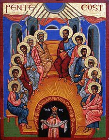 Icon of the Pentecost by Phiddipus