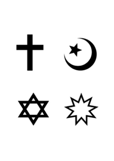 4 Abrahamic symbols