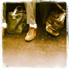 NYC shoes, rush hour
