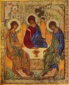 Heilige Dreifaltigkeit (The Holy Trinity) by Andrej Rublëv c.1400